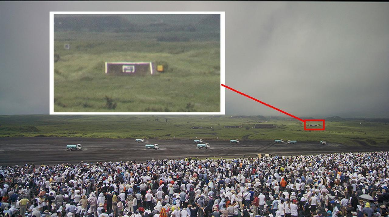 画像: 演習場全体を捉えた映像。近寄ってみると、遠景の的のディテイルまで再現されている。これが8Kの情報量だ