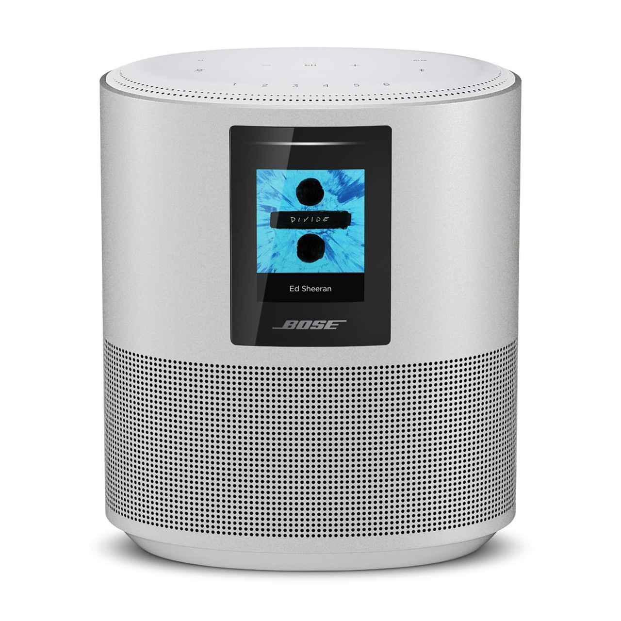 画像: ボーズのワイヤレスオーディオシステム「Bose Home Speaker 500」。カラーリングはブラックとホワイトを用意する