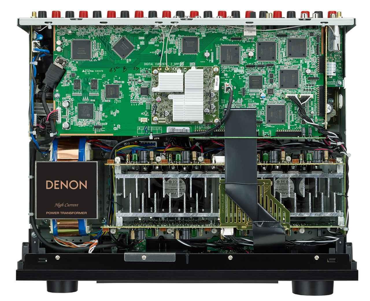 画像: ▲AVR-X4500Hの内部構造