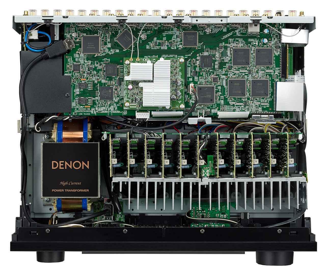 画像: ▲AVC-X6500Hの内部構造