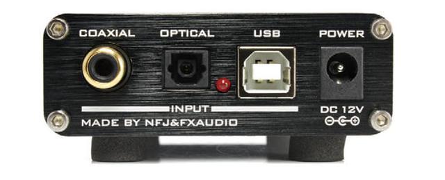 画像: デジタル入力には切り替えスイッチはなく、USB-Bが最優先となる