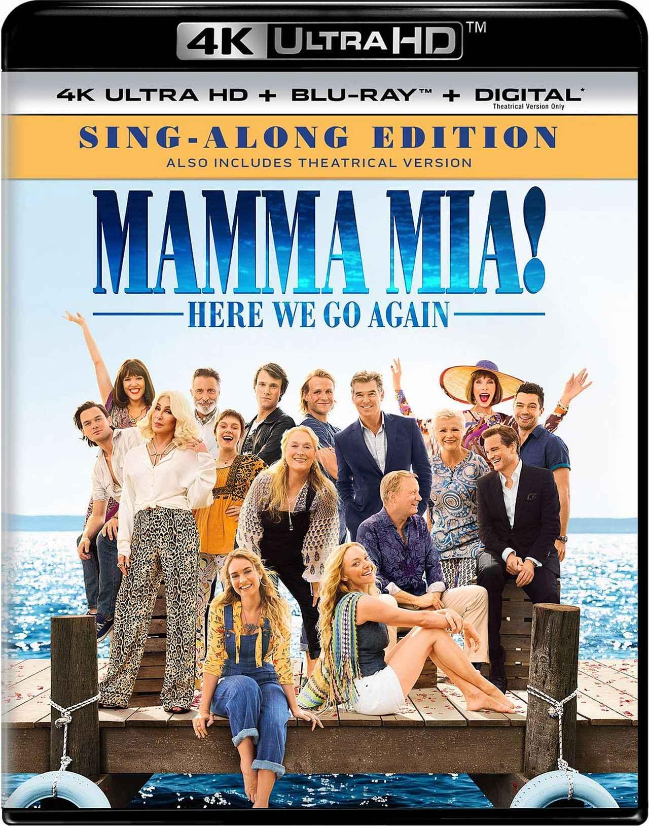 画像1: ABBAの名曲で綴るメガヒット・ミュージカルの続編 『マンマ・ミーア! ヒア・ウィー・ゴー』【海外盤Blu-ray発売情報】