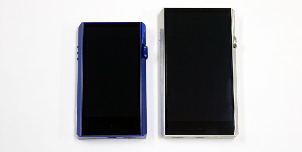 画像: SP1000(右)と比べると、半周りほど小型化されている