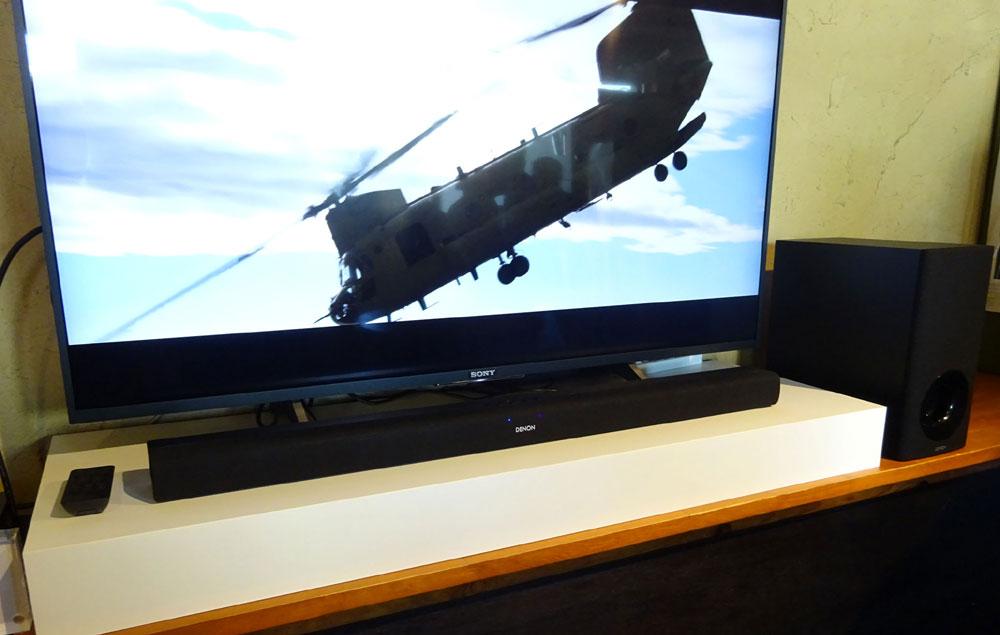 画像: デノン サウンドバーの新製品「DHT-S316」。10月上旬の発売で、価格は¥32,800(税別、写真のテレビは別売)