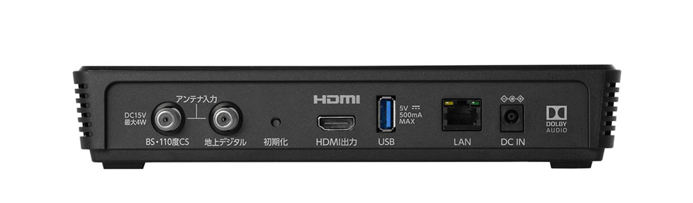 画像: ▲録画用のUSB端子も搭載しており、USB HDDを接続すれば番組録画も可能(後日のアップデート対応にて)