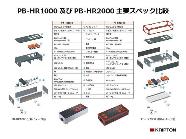 画像: ▲PB-HR1000とPB-HR2000のスペックの相違の一覧。コンセントの配置が変わっている点にも注目したい