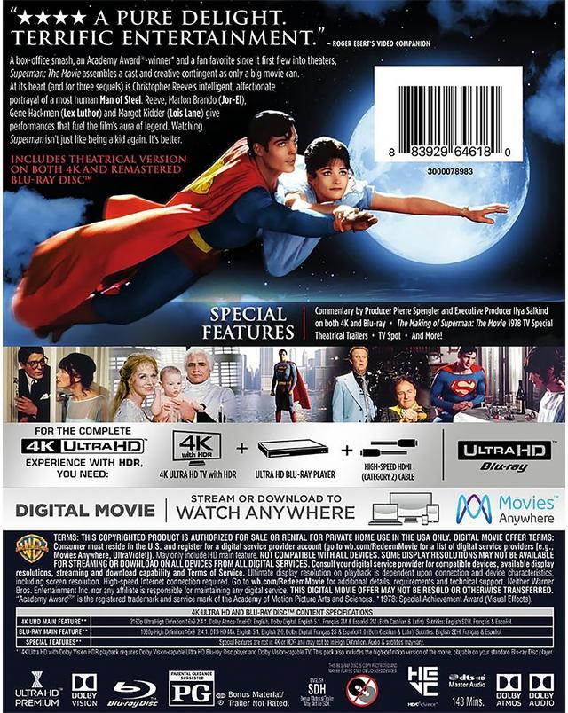 画像2: ドルビービジョン&ドルビーアトモスで登場!『スーパーマン』【海外盤Blu-ray発売情報】