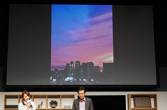 画像: ▲遠藤氏が撮影した写真データをディーガにバックアップし、大画面で再生した