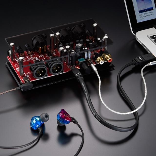 画像: settiバランスヘッドホンアンプの定番となったDF22SP。2.5mmプラグ付のバランスケーブルと、それに対応したイヤホンもセットされている www.stereosound-store.jp