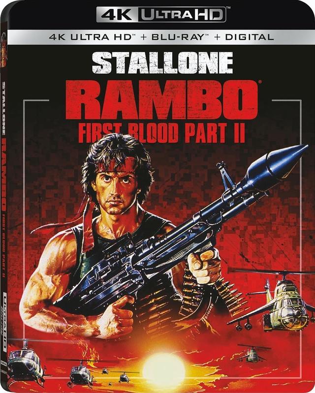 画像2: スタローン主演人気シリーズがUHD Blu-ray化『ランボー』『ランボー/怒りの脱出』『ランボー3/怒りのアフガン』【海外盤Blu-ray発売情報】