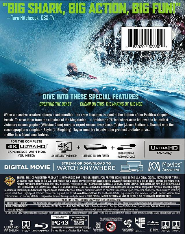 画像2: ジェイソン・ステイサム主演巨大鮫パニック・アクション『MEG ザ・モンスター』【海外盤Blu-ray発売情報】