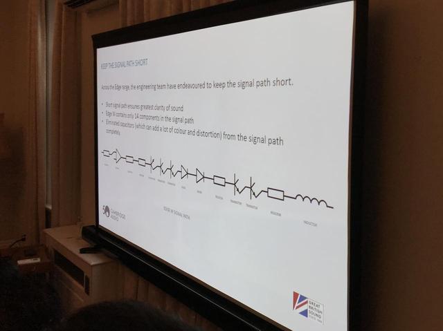 画像: アンプ部はシンプルさを追求し、信号経路のパーツを減らしている。Azurで41パーツだったところ、今回は14のパーツを使用。信号経路のコンデンサーを排したことで、不要な色付けを避けたとしている
