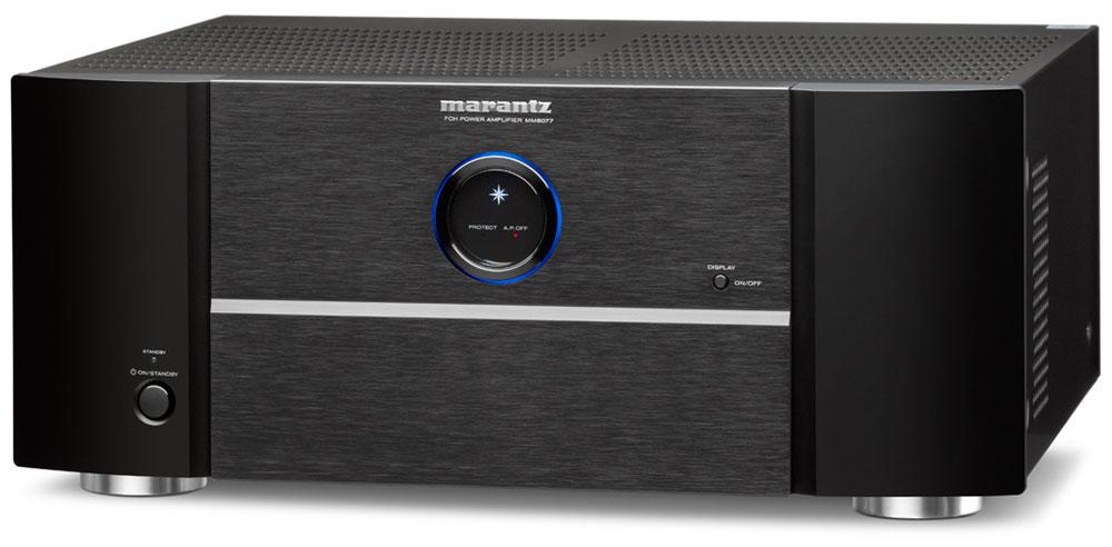 画像: ▲マランツのパワーアンプの新製品「MM8077」。7ch分のパワーアンプを搭載する