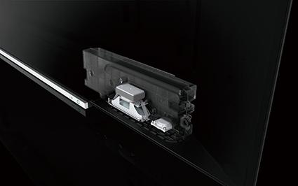 画像: X920に搭載されるフルレンジスピーカーユニット。これと、同じく新設計のトゥイーターをバスレフボックスに格納して、総合出力46Wのマルチアンプで駆動している