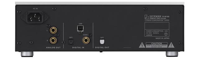 画像: ▲「D-N150」のリアパネル。今回デジタル入力3系統が新しく搭載された