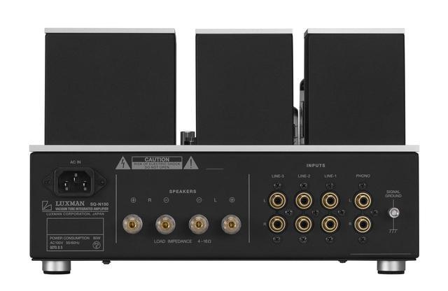 画像: ▲「SQ-N150」のリアパネル。スピーカーターミナルは1系統のみの配備で、4Ωから16Ωまでの兼用になっている