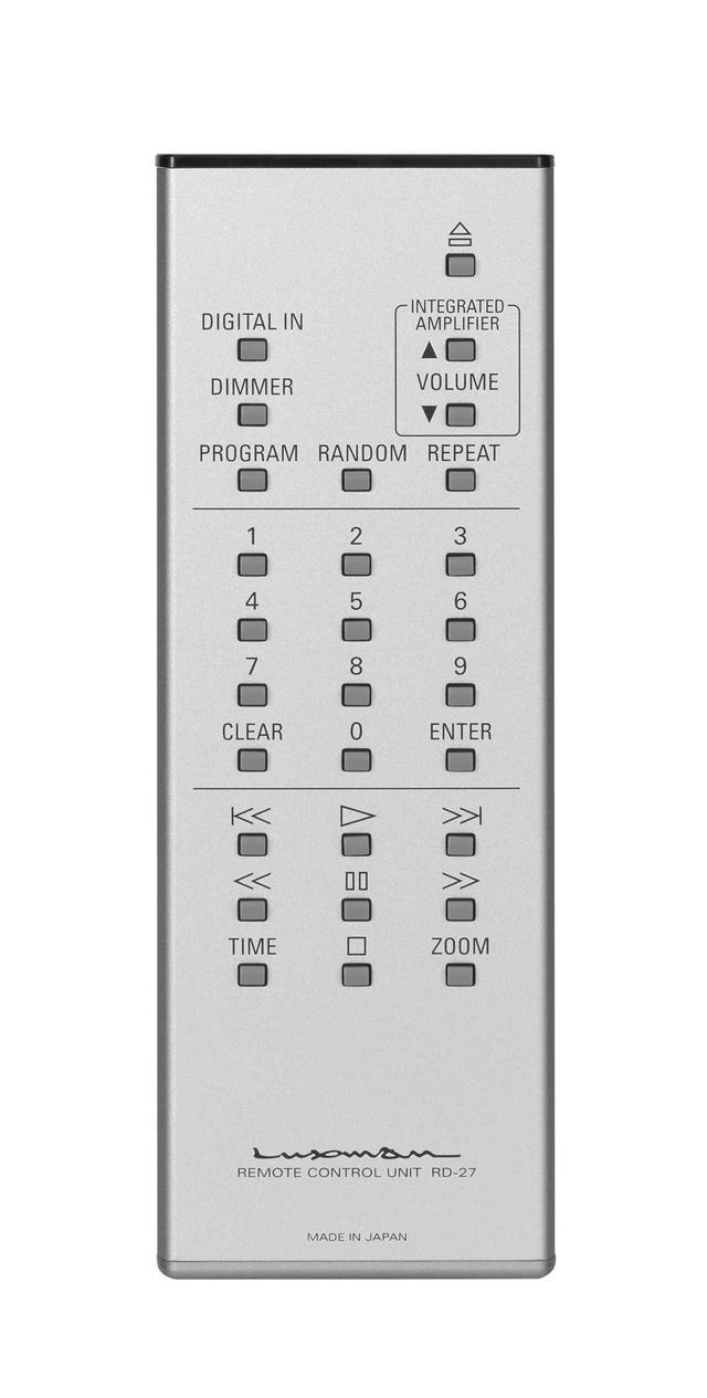 画像: 標準装備されるアルミ製リモコン。SQ-N150含めた同社の現行プリメインアンプのボリュウム調整も可能だ