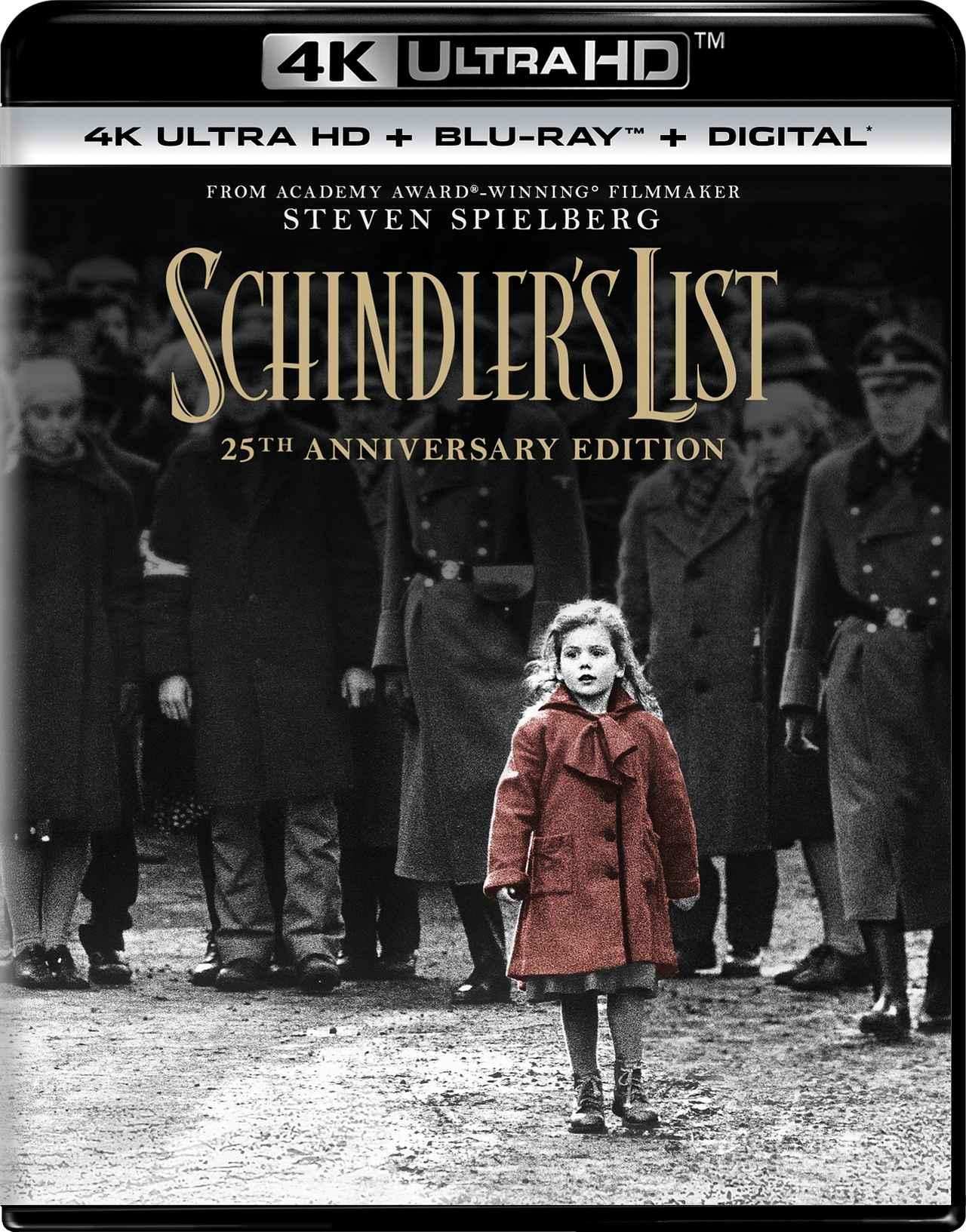 画像1: 4Kレストア/ドルビービジョン/ドルビーアトモスで蘇るスピルバーグ監督の名作『シンドラーのリスト』【海外盤Blu-ray発売情報】