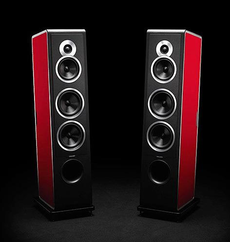画像: ソナス・ファベールのスピーカーChameleonは、6色から選べる脱着式のサイドパネルを用意   Stereo Sound ONLINE