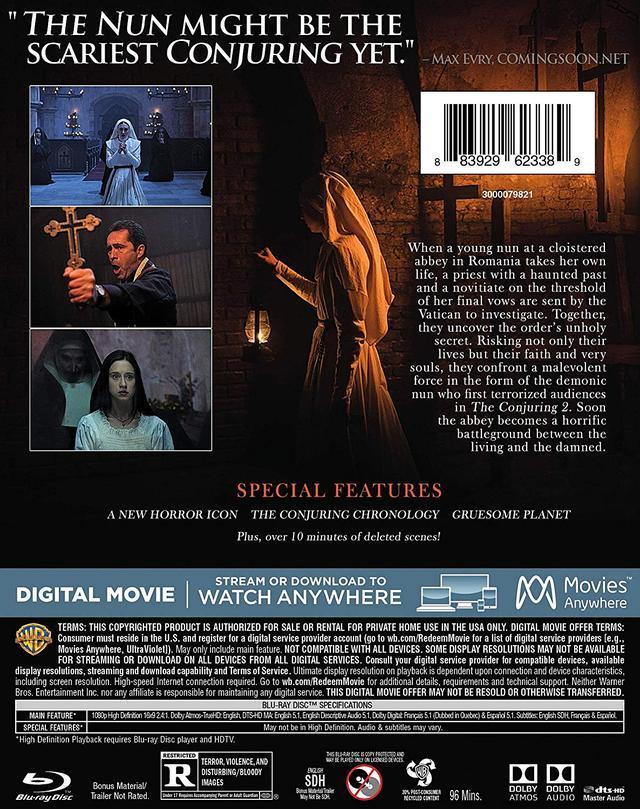 画像2: メガヒット・ホラー『死霊館』シリーズのスピンオフ『死霊館のシスター』【海外盤Blu-ray発売情報】