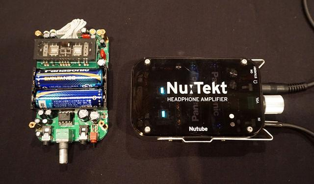 画像: コルグ 同社オリジナルの真空管デバイスNutubeを使ったヘッドホンアンプキット「Nu:Tekt HA-KIT」を展示。こちらはフジヤエービックの特設会場で販売されている