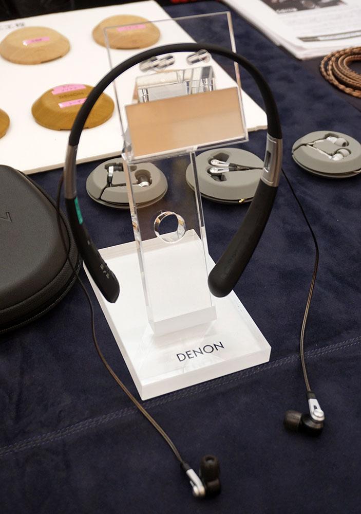 画像: ディーアンドエムホールディングス デノンから本日発表されたばかりのダブル・エアーコンプレッション・ドライバー搭載ワイヤレスヘッドホン「AH-C820W WIRELESS IN-EAR HEADPHONES」も試聴できる