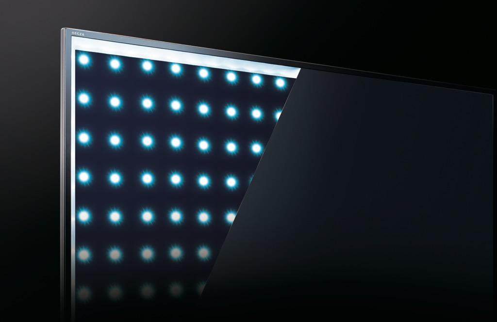 画像: 液晶パネルには視野角の広いIPS方式を採用。従来比約2倍の高コントラストを実現する新世代パネルで、組み合わせるバックライトは直下型LED方式。LEDの点滅を厳密に制御する「リアルブラックエリアコントロール」技術を加えて、HDR映像など幅広い輝度レンジに対応する