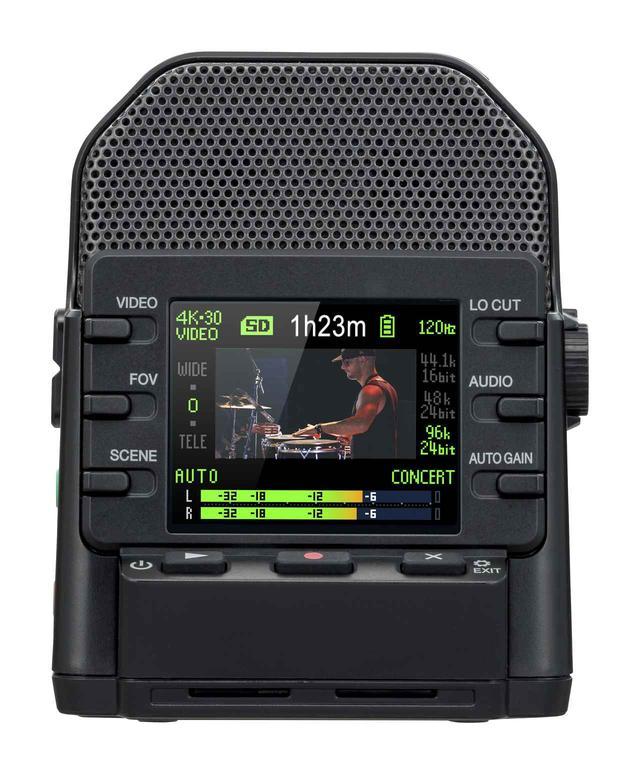 画像: ▲記録メディアに、microSD/microSDHC/microSDXCカードを採用(最大256GB)、音声のみのリニアPCMレコーダーとしても利用できる。