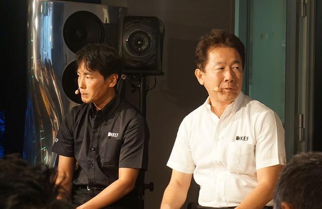 画像: ▲KEF Japan代表取締役社長の浅井信行氏(右)とマーケティング部長の壱岐浩氏(左)