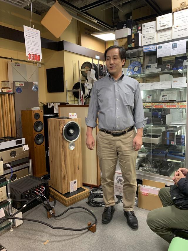 画像: 開催にあたり、同店アクセサリー館の松浦さんにご挨拶いただきました。今回で14回目となる恒例のリレー試聴会、常連さんにはおなじみのイベントですね。