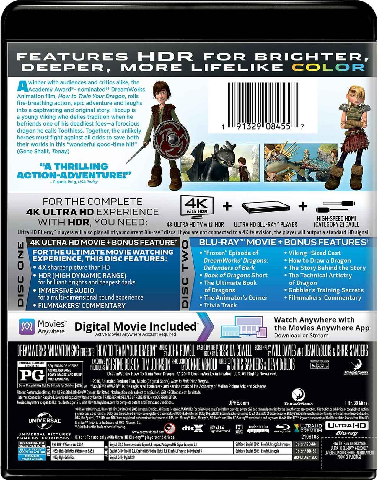 画像3: メガヒット・アニメーションが4K&DTS:Xで登場『ヒックとドラゴン』『ヒックとドラゴン2』【海外盤Blu-ray発売情報】