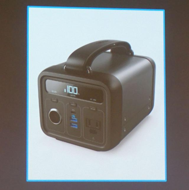 画像: Anker PowerHpuse 200 ¥39,800(税別、予価)、2019年Q1発売予定 57,600mAh大容量バッテリーながら、重さを2.7kgに抑えた製品。12Vバッテリー、ACコンセント、USB-C、USB-Aを備え、災害時、キャンプなどでも活躍する