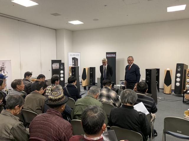 画像: 和田先生の講演はおよそ2時間の長丁場。50人前後の来場者を前に、オーディオと音楽に関する熱弁が振るわれ、みなさん大満足の様子であった