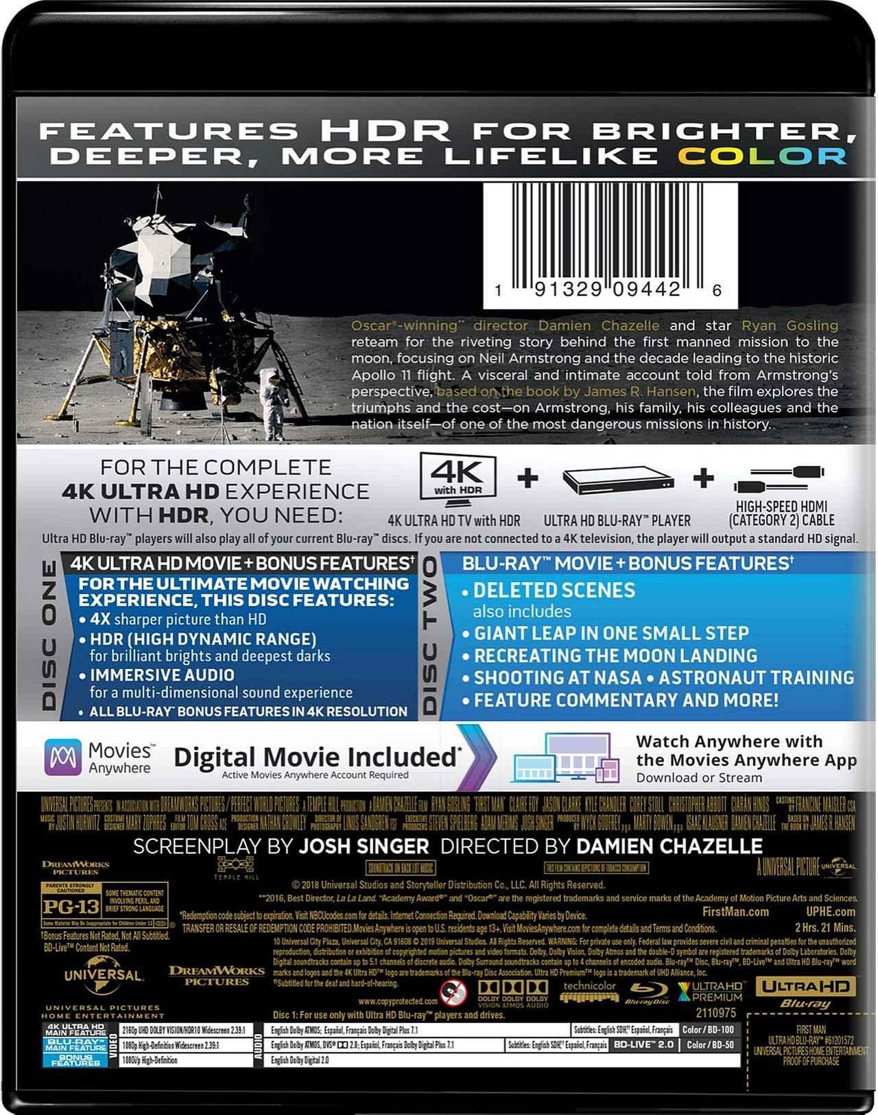 画像2: 『ラ・ラ・ランド』のD・チャゼル監督&R・ゴズリング主演『ファースト・マン』【海外盤Blu-ray発売情報】