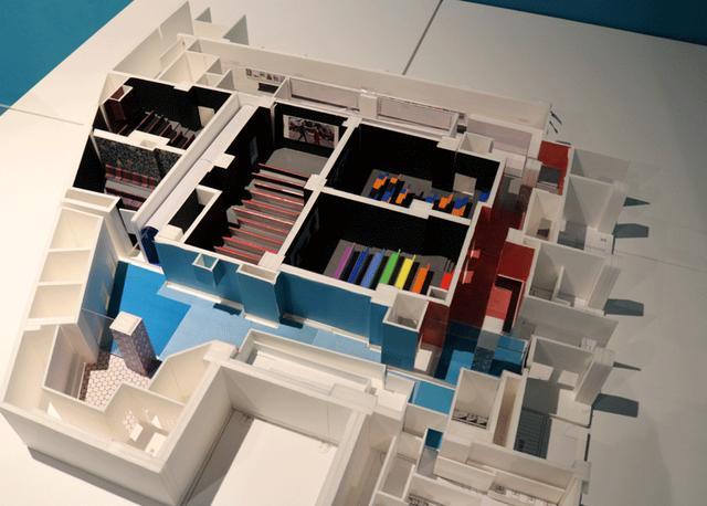 画像: 劇場の模型