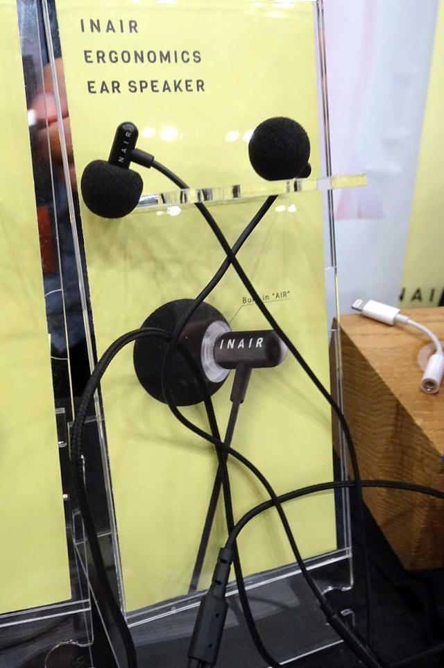 画像: INAIRでは、イヤホンなのにスピーカーから音を聞いている雰囲気を味わえる「M360」、「M360bt」を展示。有線版M360は発売中で、BT仕様のM360btはもうそろそろ発売になるそう(¥19,440+税)