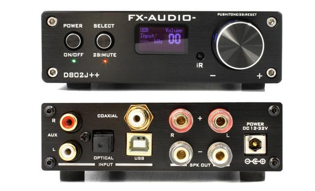 画像: FX-AUDIO-、デジタルアンプの新フラッグシップモデル「D802J++」を本日12月27日に発売。192kHz/24bitのハイレゾ音源の入力に対応した