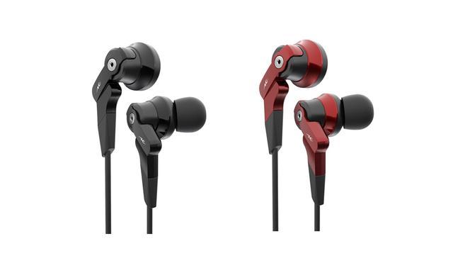 画像: 重低音が楽しめるBluetoothイヤホン「HP-V100BT」。黒と赤の2色をラインナップ
