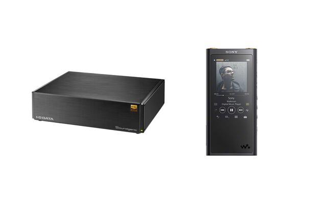 画像: 今回はSoundgenicのレギュラーモデル、HDL-RA2HF(2TバイトHDD搭載)とソニーのウォークマン、NW-ZX300の連携を検証した。