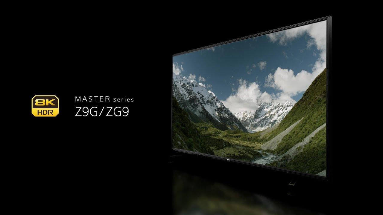 画像: Sony - BRAVIA - Z9G/ZG9 Series - MASTER Series 8K HDR TV www.youtube.com