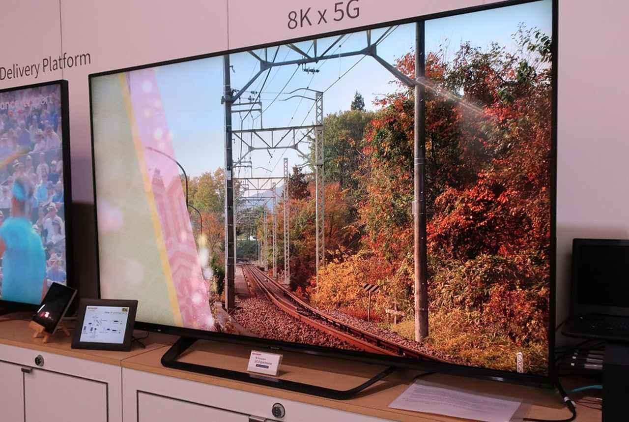 画像: 5Gによる8K伝送の実験