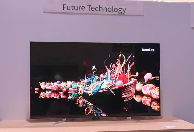 画像: 鴻海(ホンハイ)精密工業グルーブのパネル・メーカー、INNOLUXが製造した65インチ・8Kディスプレイ