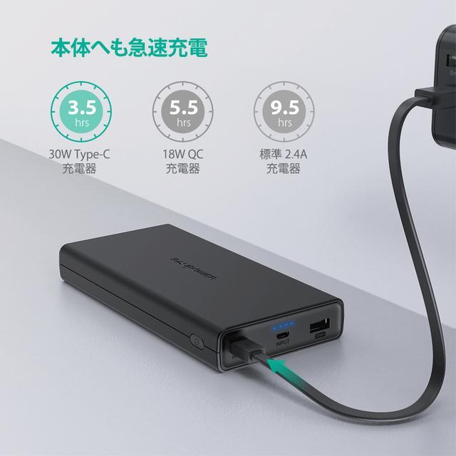 画像: RAVPowerから、大容量モバイルバッテリー「RP-PB159」登場。最大45Wの出力が可能で、ノートPCの充電も可能