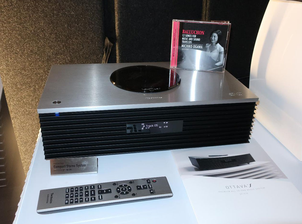 画像: テクニクスの一体型システム「OTTAVA SC-C70」で、UAレコードの2nd CD「バルーション/小川理子」を再生