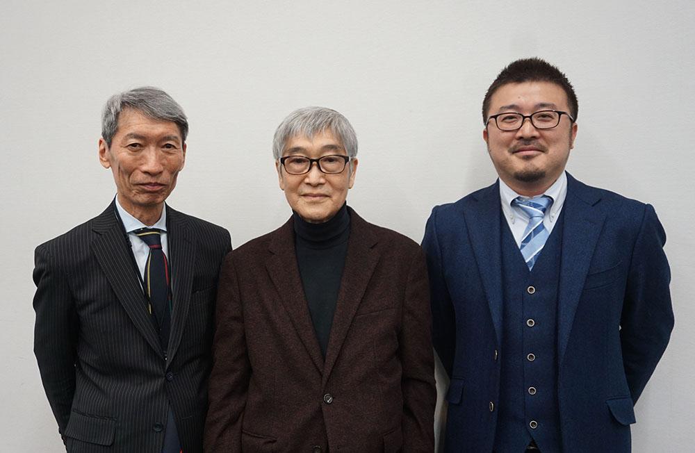 画像: 写真中央が協同組合 日本映画・テレビ録音協会の多良政司さんで、右が株式会社スタジオジブリの古城環さん、左はお馴染の潮晴男さん