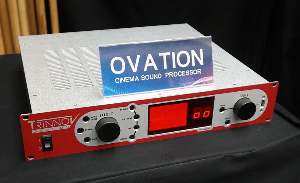 画像: トリノフのシネマプロセッサー「OVATION」。実際に音を再生したのは、日本国内では今回が初めてとか