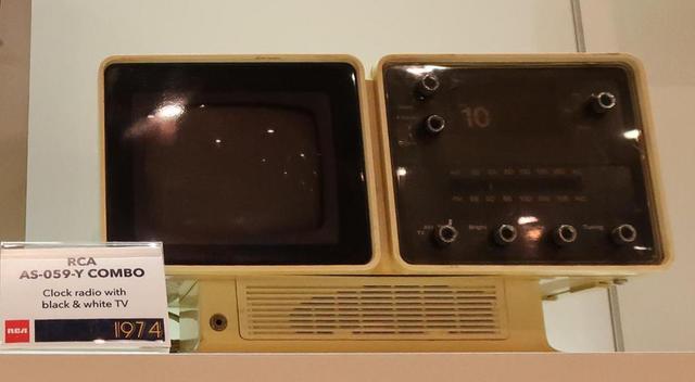 画像: RCA VICTOR「AS-059-Y COMBO」ラジオ付きテレビ(1974年)