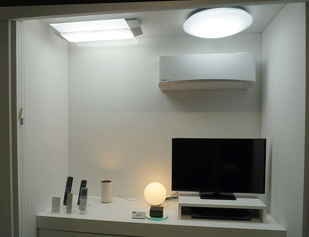 画像: シーン連動機能を使うと、照明の明るさが変化し、同時にSC-GA1から設定しておいた音楽が再生される