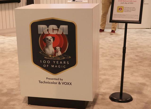 画像: 現在RCAのブランドを保有するテクニカラーのブースで、100周年記念、展示