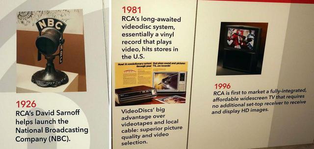 画像: 1926年にNBC放送局の立ち上げを強力にサポート(左)。右は失敗したビデオディスクCED方式